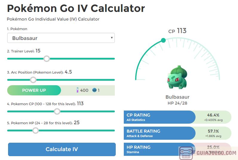 calculadoras de iv para pokemon go