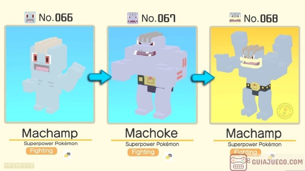 evolucionar machop