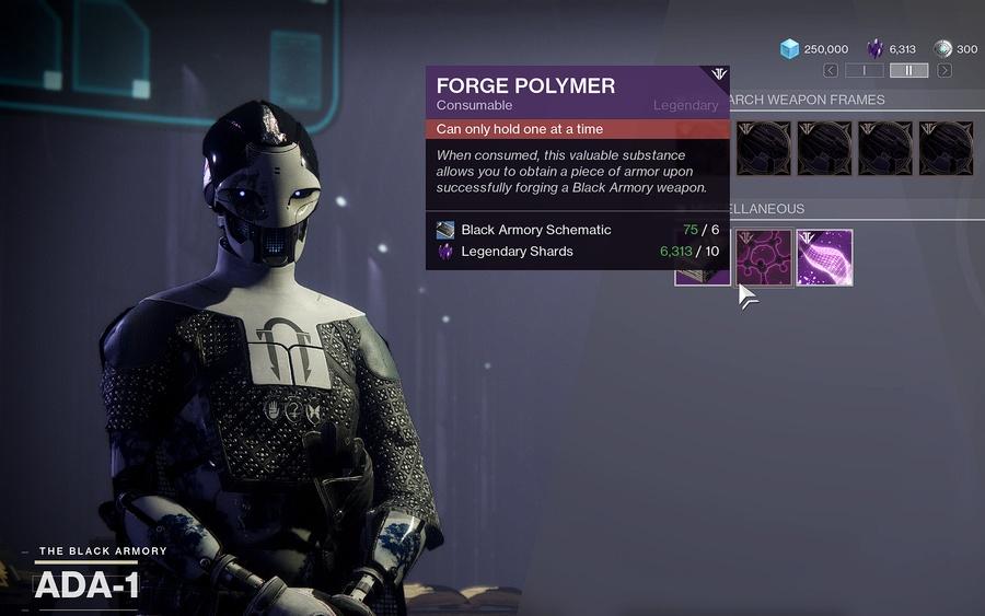 Black Armory Armor Forge Polymer